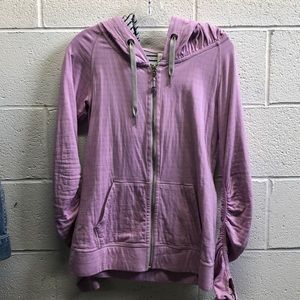Lululemon lavender zip up jacket w/ hood sz 6